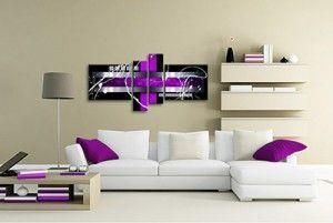 Muebles de salón, destaca la pared del sofá